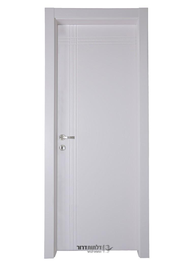 דלת פנים מעוצבת בדגם נועה