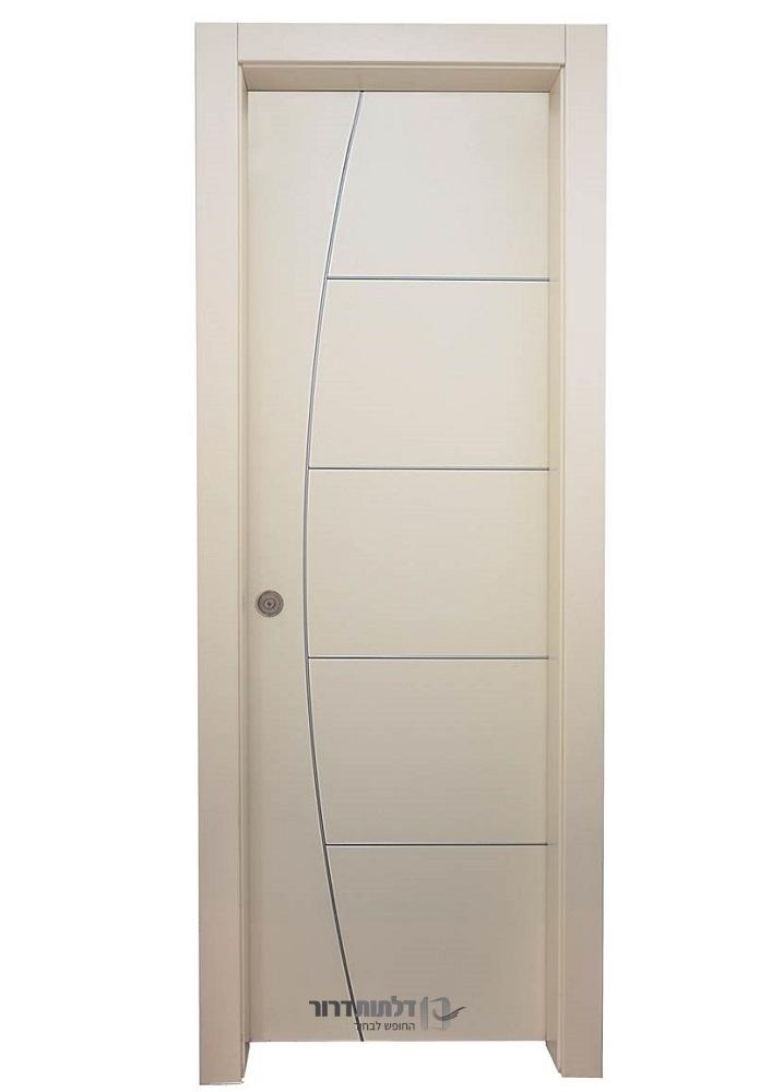 דלתות קו אפס מעוצבת בצבע שמנת
