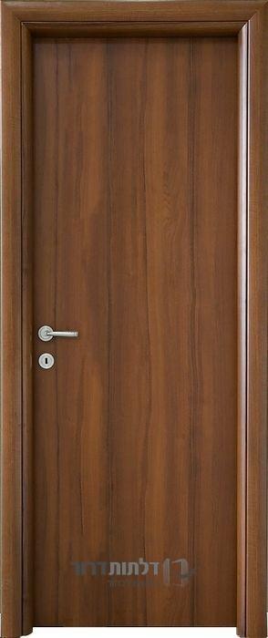 דלת פנים חלק אגוז