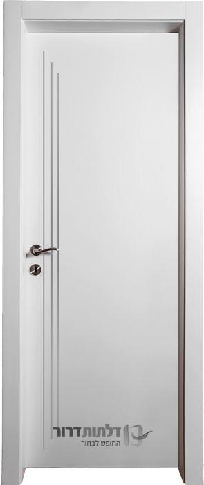 דלתות פנים ניקל מדורג לבן