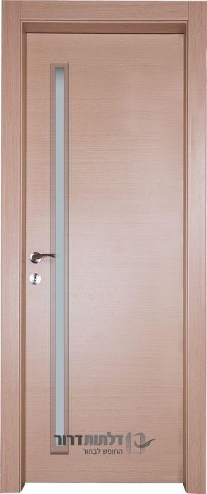דלת פנים צוהר דקורטיבי מאורך אלון מולבן