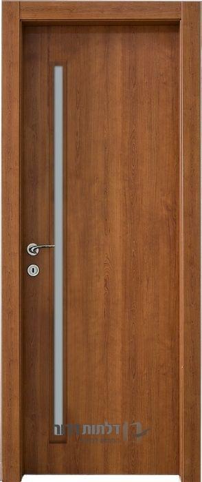 דלת פנים צוהר דקורטיבי מאורך דובדבן