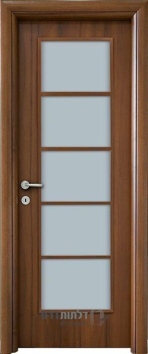 דלת פנים אגוז צוהר יפני
