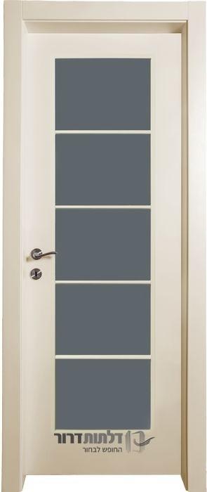 דלת פנים צוהר יפני שמנת