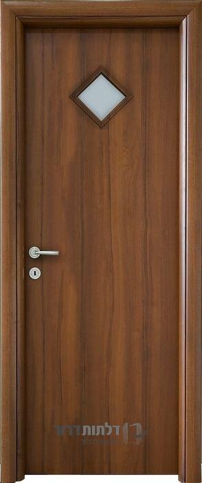 דלת פנים צוהר מעויין אגוז