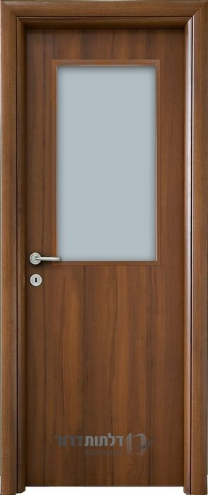 החלפת דלת פנים צוהר מרכזי אגוז