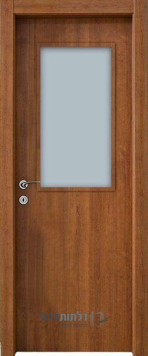 דלת פנים צוהר מרכזי דובדבן