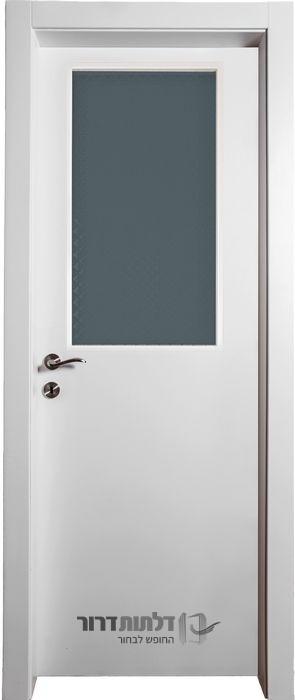 דלת פנים צוהר מרכזי לבן
