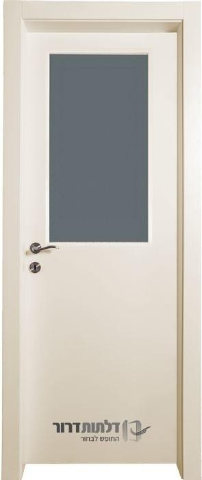 דלת פנים צוהר מרכזי שמנת