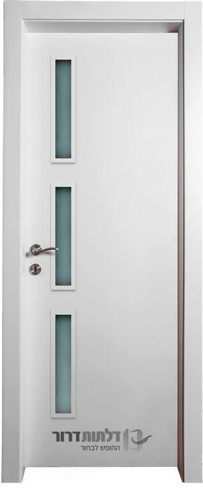 דלת פנים צוהר צד 12_50 לבן