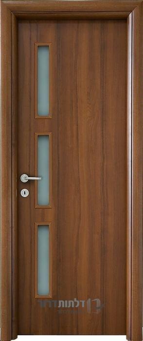 דלת פנים צוהר צד 12_50 אגוז