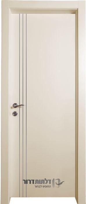 דלת אקוסטית שמנת ניקל אורך