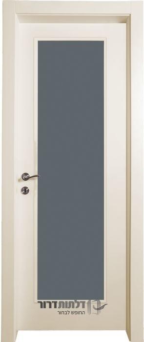 דלתות פנים צוהר ונוס בצבע שמנת