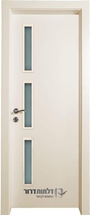 דלת פנים שמנת צוהר צד 12_50