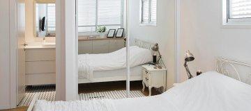 חדר שינה מעוצב בסגנון רטרו