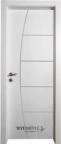 דלתות אקוסטיות דגם ניקל-חץ-וקשת-לבן