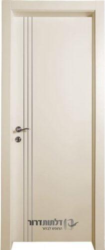 דלת אקוסטית דגם שמנת-ניקל-אורך