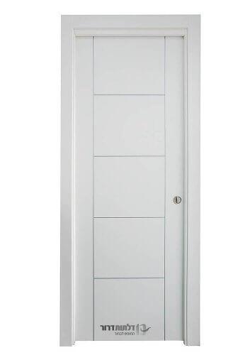 דלת הזזה תלויה בצבע לבן