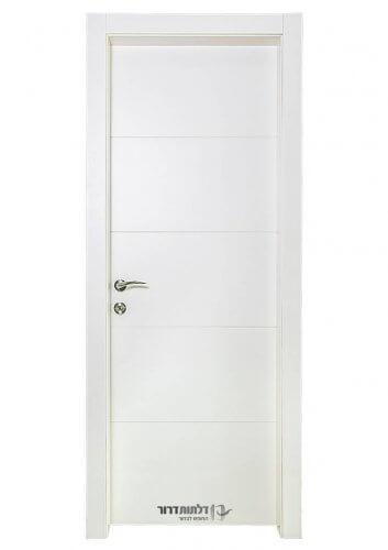 דלת פנים לבנה מדגם נועה